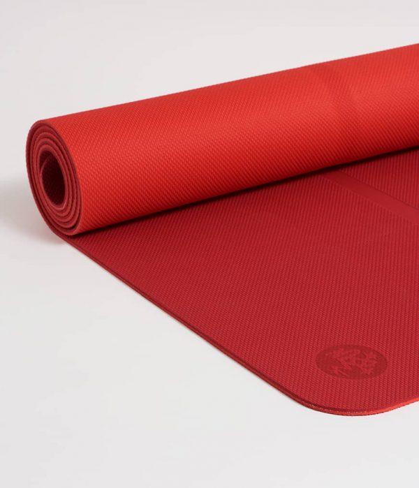 Manduka Yogamatte Welcome Mat Passion Mittel-Rot