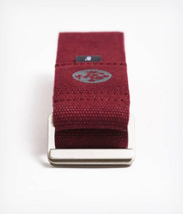 Manduka Align Yoga-Gurt Verve 8ft Dunkel-Rot 4