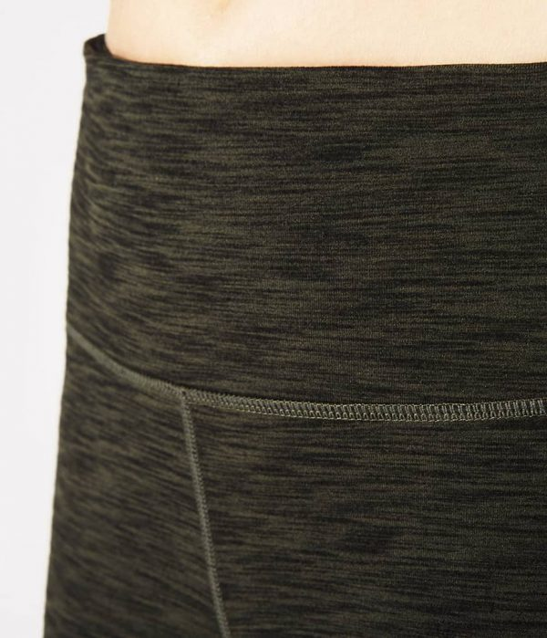 Manduka Yoga-Legging ESSENTIAL LEGGING OLIVINE HEATHER grün meliert für Frauen 4