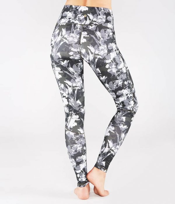 Manduka Yoga-Legging THE HIGH LINE DIGITAL FLORAL grau-weissem Floral-Print für Frauen 2