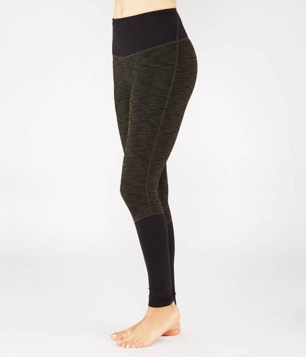Manduka Yoga-Legging THE HIGH LINE OLIVINE HEATHER grün meliert für Frauen 1