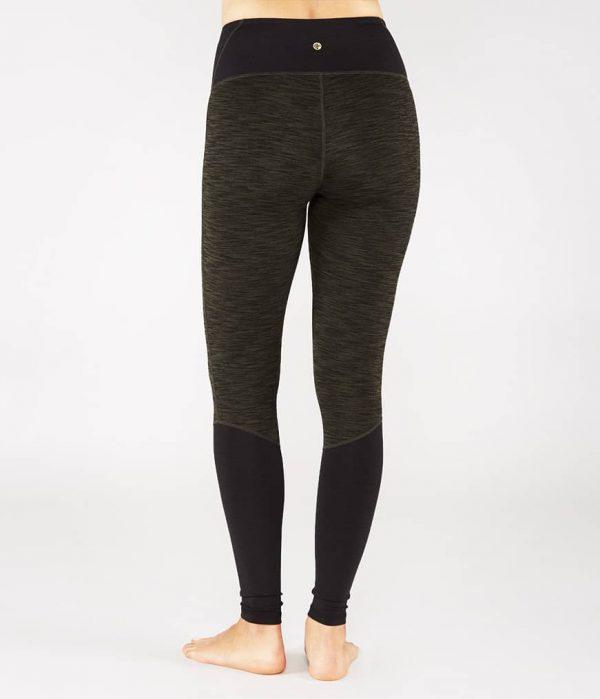 Manduka Yoga-Legging THE HIGH LINE OLIVINE HEATHER grün meliert für Frauen 2