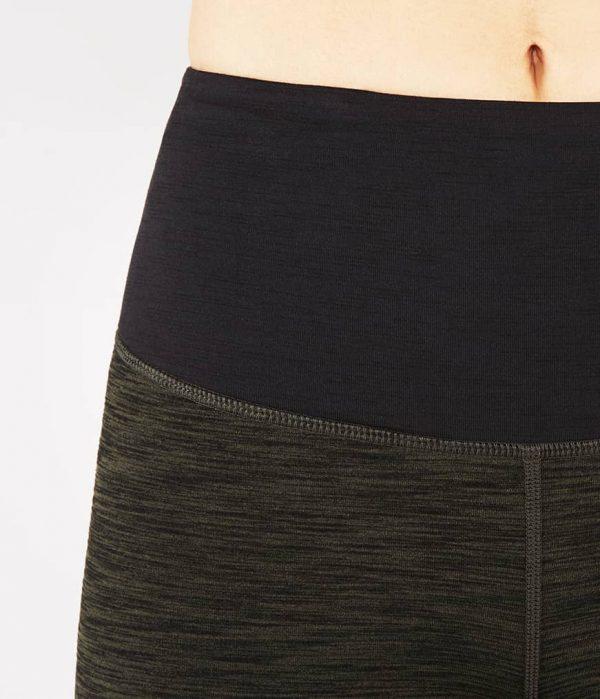 Manduka Yoga-Legging THE HIGH LINE OLIVINE HEATHER grün meliert für Frauen 4