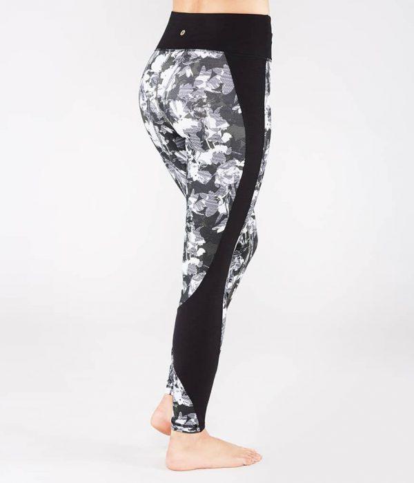 Manduka Yoga-Legging WRAP UP LEGGING DIGITAL FLORAL grau-weissem Floral-Print für Frauen 2