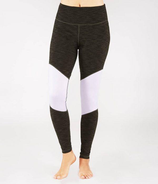 Manduka Yoga-Legging RADIANT LEGGING OLIVINE HEATHER grün meliert für Frauen 1