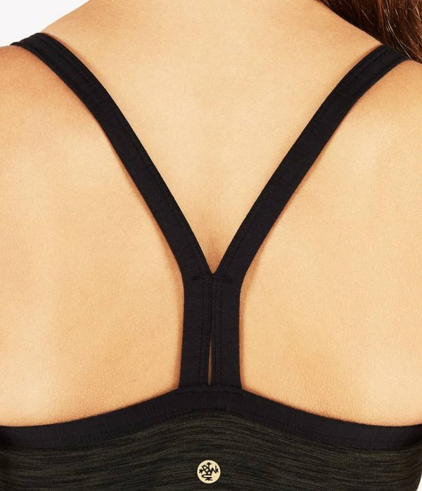 Manduka Yoga-Oberteil LIBERTINE BRALETTE OLIVINE HEATHER grün meliert für Frauen 6