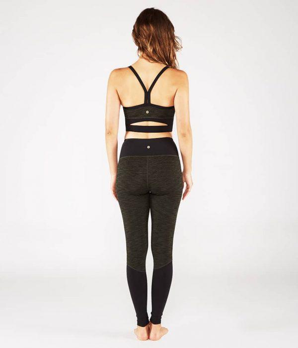 Manduka Yoga-Legging THE HIGH LINE OLIVINE HEATHER grün meliert für Frauen 8