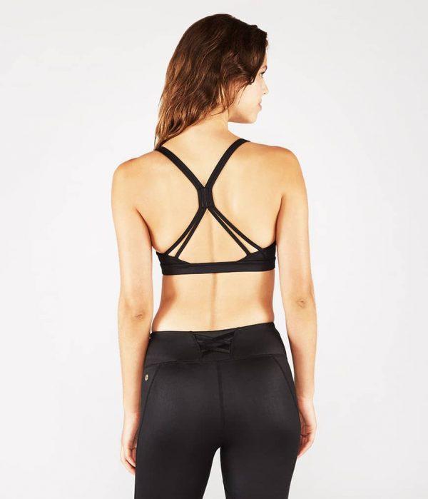 Manduka Yoga-Oberteil CORSET BRA BLACK SHEEN schwarz-schimmernd für Frauen 6