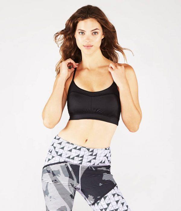 Manduka Yoga-Bustier PINTUCK BRA BLACK SHEEN schwarz-schimmernd für Frauen 2