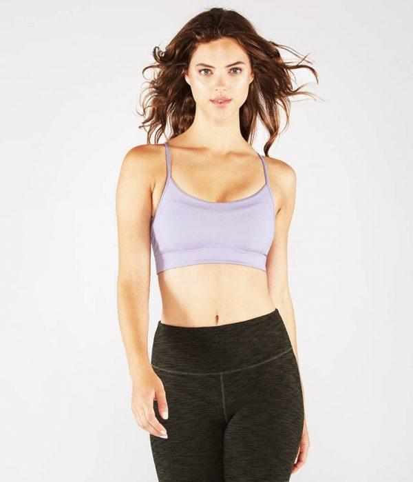 Manduka Yoga-Bustier PINTUCK BRA LAVENDER SHEEN lavendel-schimmernd für Frauen 1