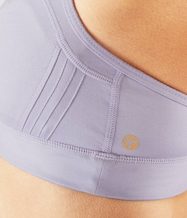 Manduka Yoga-Bustier PINTUCK BRA LAVENDER SHEEN lavendel-schimmernd für Frauen 3