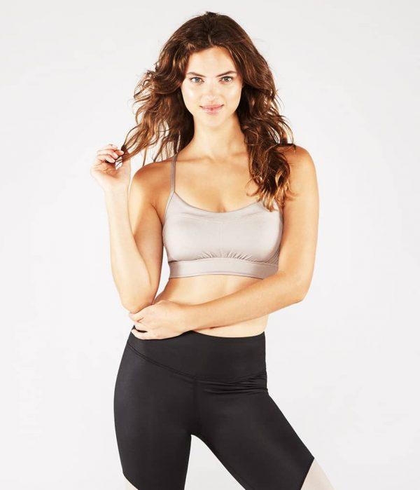 Manduka Yoga-Bustier PINTUCK BRA TAUPE SHEEN taupe-schimmernd für Frauen 1