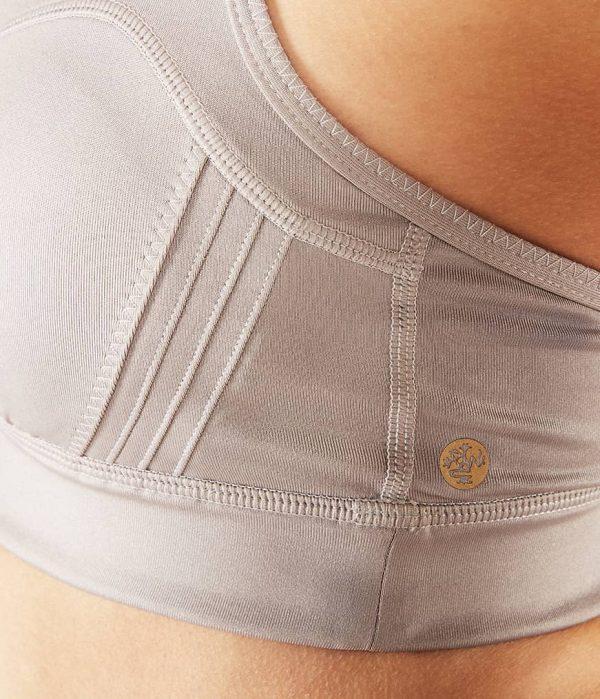 Manduka Yoga-Bustier PINTUCK BRA TAUPE SHEEN taupe-schimmernd für Frauen 3