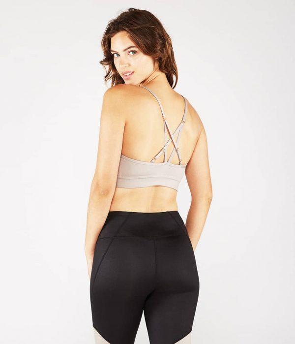 Manduka Yoga-Bustier PINTUCK BRA TAUPE SHEEN taupe-schimmernd für Frauen 5