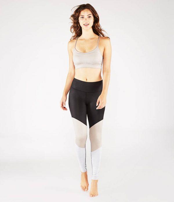 Manduka Yoga-Bustier PINTUCK BRA TAUPE SHEEN taupe-schimmernd für Frauen 6