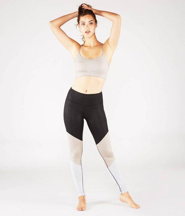 Manduka Yoga-Bustier PINTUCK BRA TAUPE SHEEN taupe-schimmernd für Frauen 7