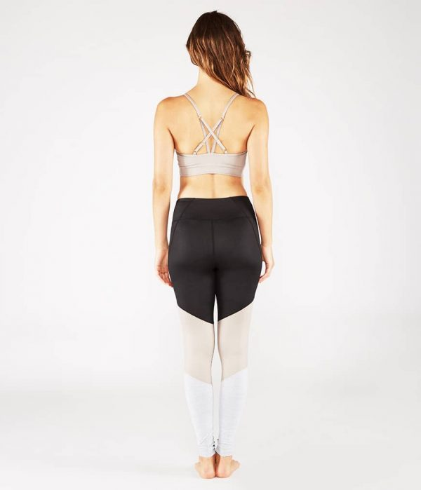 Manduka Yoga-Bustier PINTUCK BRA TAUPE SHEEN taupe-schimmernd für Frauen 8