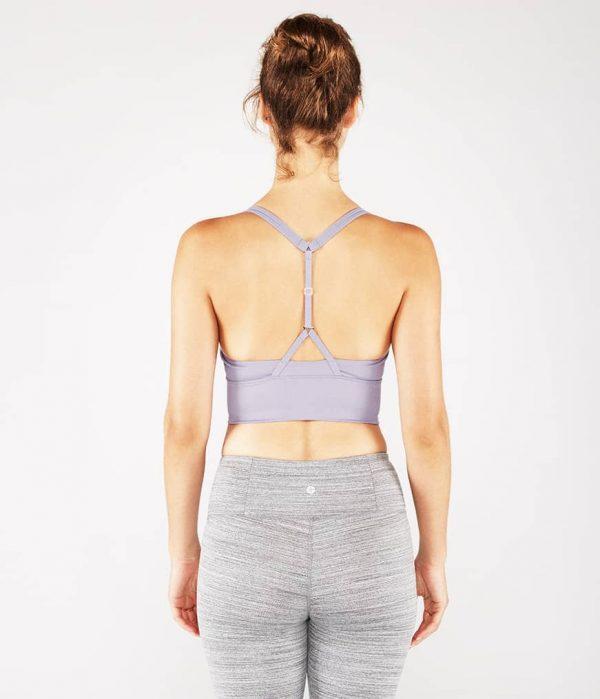 Manduka Yoga-Oberteil PERFECT BRALETTE LAVENDER SHEEN lavendel-schimmernd für Frauen 5