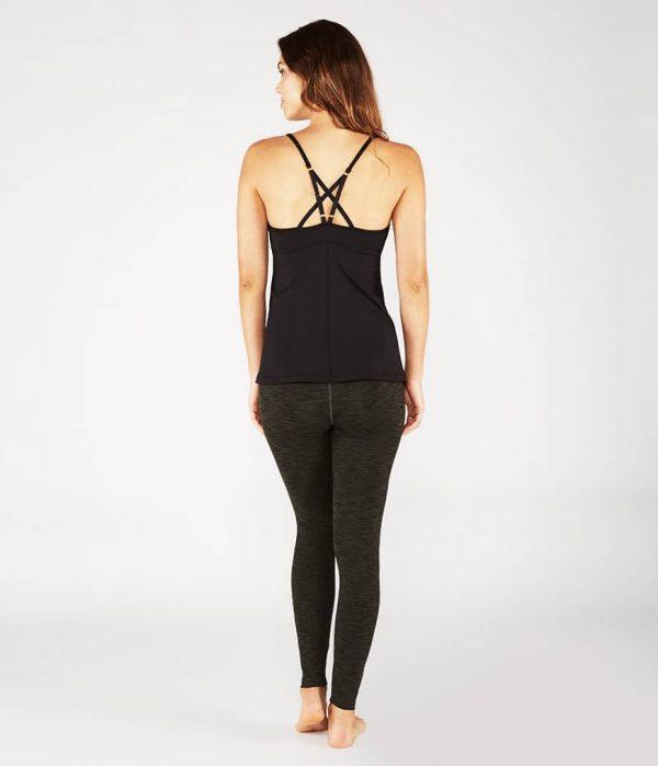 Manduka Yoga-Oberteil PINTUCK CAMI BLACK schwarz für Frauen 6
