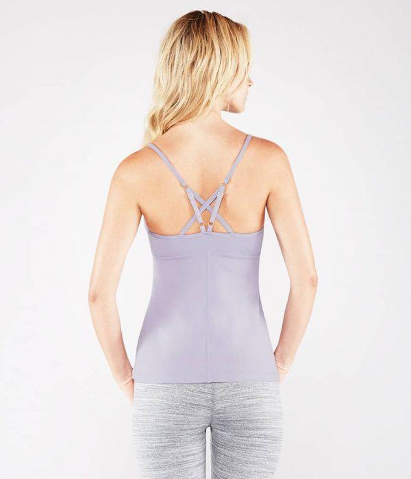 Manduka Yoga-Oberteil PINTUCK CAMI LAVENDER lavendel für Frauen 6