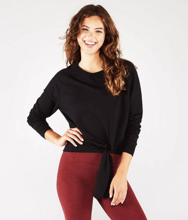 Manduka Yoga-Wickelshirt RESOLUTION CREW BLACK schwarz für Frauen 1