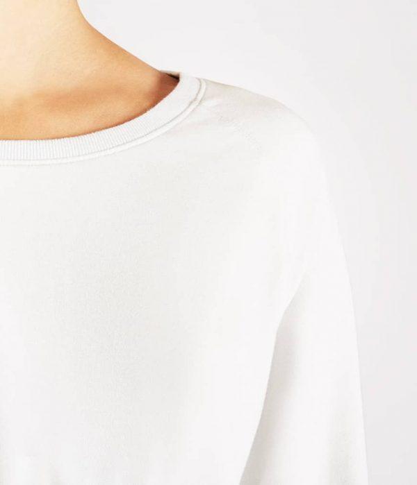 Manduka Yoga-Wickelshirt RESOLUTION CREW STONE weiss für Frauen 2
