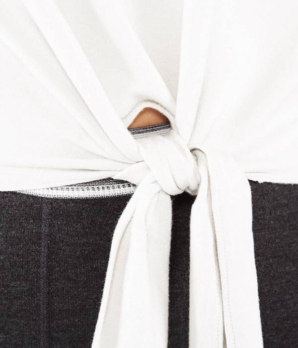 Manduka Yoga-Wickelshirt RESOLUTION CREW STONE weiss für Frauen 3