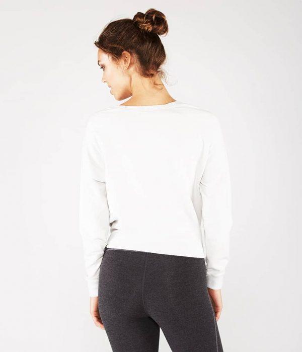 Manduka Yoga-Wickelshirt RESOLUTION CREW STONE weiss für Frauen 6