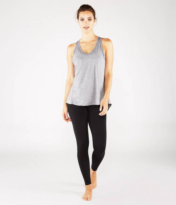 Manduka Yoga Tank-Top KOSHA OPEN BACK TANK HEATHER GREY grau meliert für Frauen 4