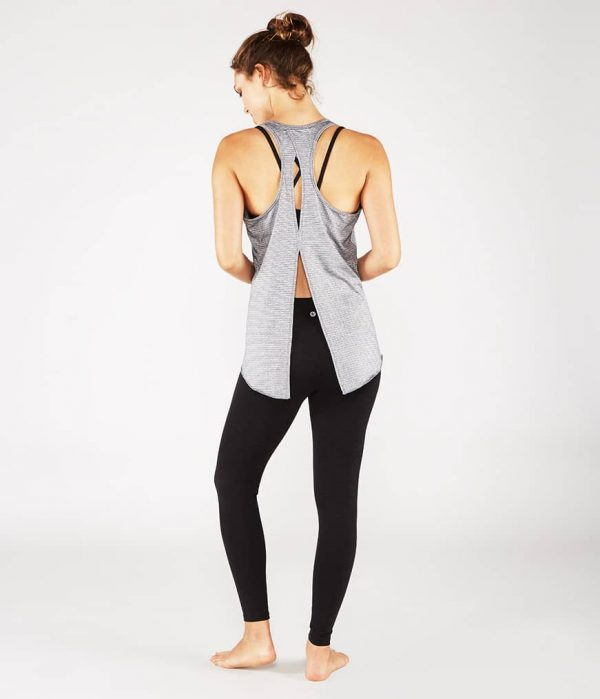 Manduka Yoga Tank-Top KOSHA OPEN BACK TANK HEATHER GREY grau meliert für Frauen 5