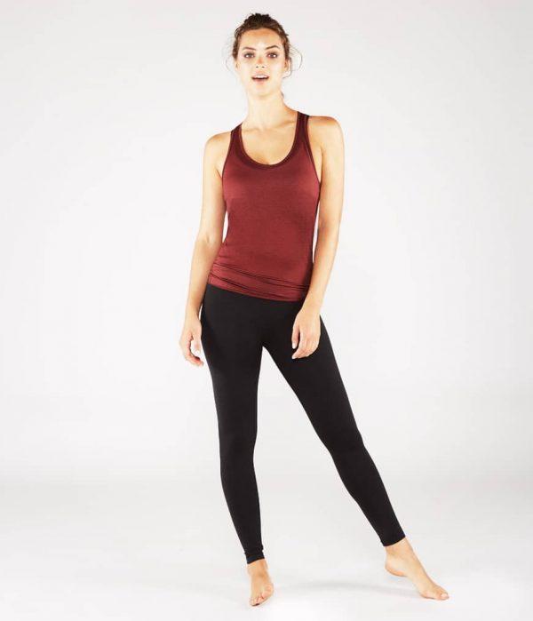 Manduka Yoga Tank-Top KOSHA OPEN BACK TANK RUBY rubin-rot für Frauen 8