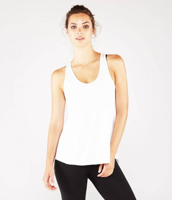 Manduka Yoga Tank-Top KOSHA OPEN BACK TANK WHITE weiss für Frauen 1