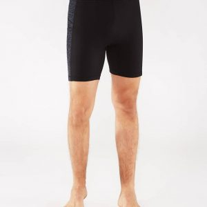 Manduka Yoga-Short ATMAN SHORT BLACK w/ Sediment Melange schwarz-dunkel-grau für Männer 1