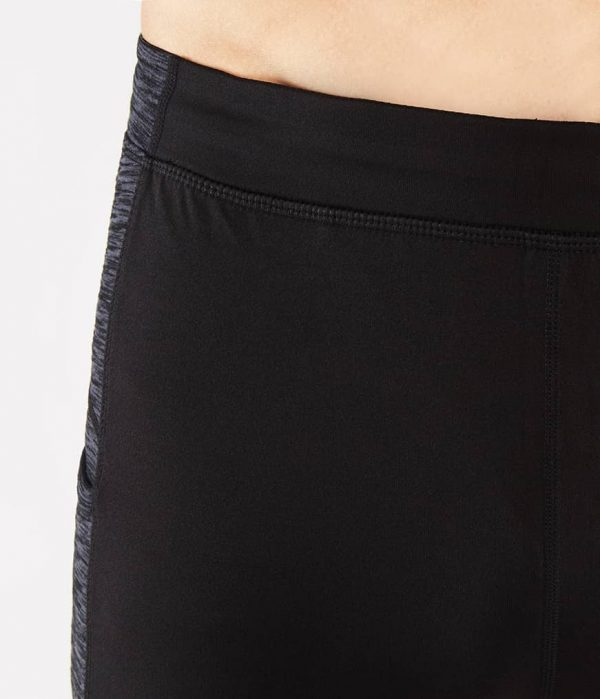 Manduka Yoga-Short ATMAN SHORT BLACK w/ Sediment Melange schwarz-dunkel-grau für Männer 2