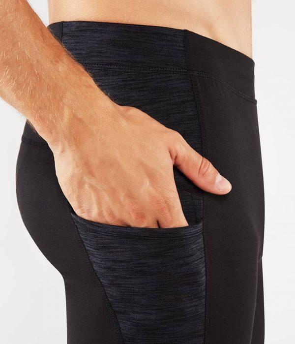 Manduka Yoga-Short ATMAN SHORT BLACK w/ Sediment Melange schwarz-dunkel-grau für Männer 3