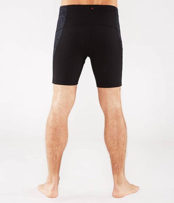 Manduka Yoga-Short ATMAN SHORT BLACK w/ Sediment Melange schwarz-dunkel-grau für Männer 6