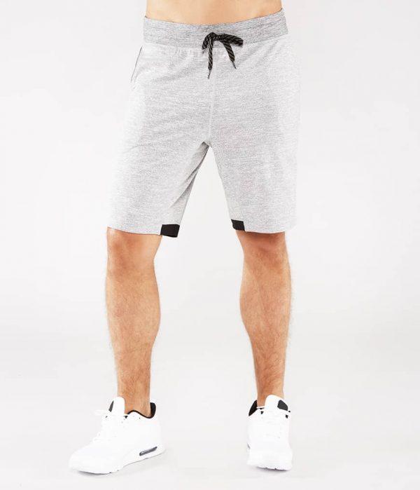Manduka Yoga-Short TAILOR SHORT HARBOR Twill hell-grau für Männer 1