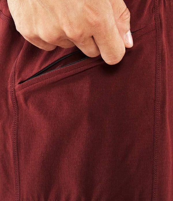Manduka Yoga-Short DAILY LITE PORT dunkel-rot für Männer 6