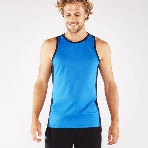 Manduka Yoga Tank-Top MINIMALIST TANK 2.0 TRUE BLUE hell-blau für Männer 1
