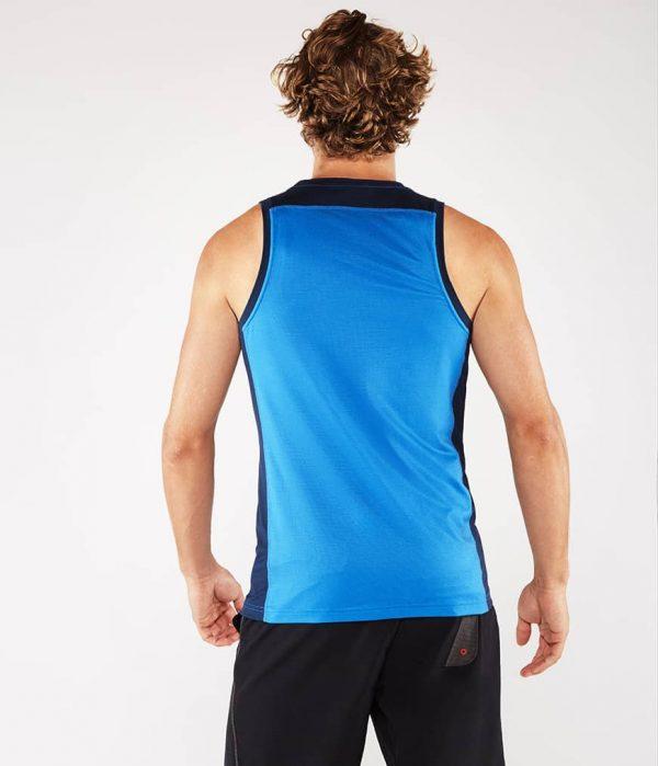 Manduka Yoga Tank-Top MINIMALIST TANK 2.0 TRUE BLUE hell-blau für Männer 6