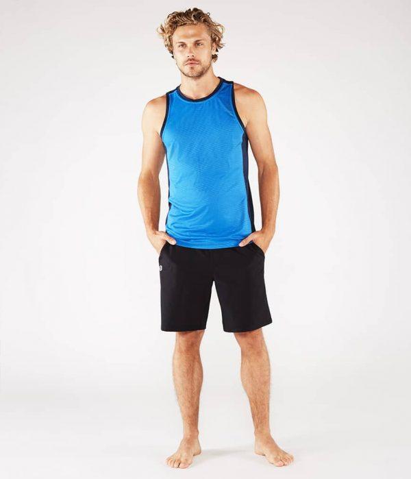 Manduka Yoga Tank-Top MINIMALIST TANK 2.0 TRUE BLUE hell-blau für Männer 7