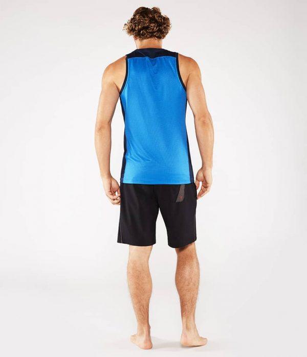 Manduka Yoga Tank-Top MINIMALIST TANK 2.0 TRUE BLUE hell-blau für Männer 8