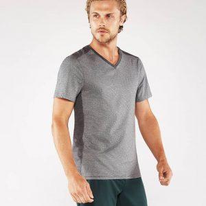 Manduka Yoga-Shirt MINIMALIST TEE 2.0 DK HEATHER GREY dunkel-grau meliert für Männer 1