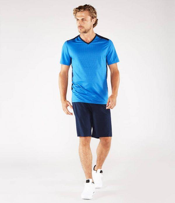 Manduka Yoga-Shirt MINIMALIST TEE 2.0 TRUE BLUE hell-blau für Männer 5