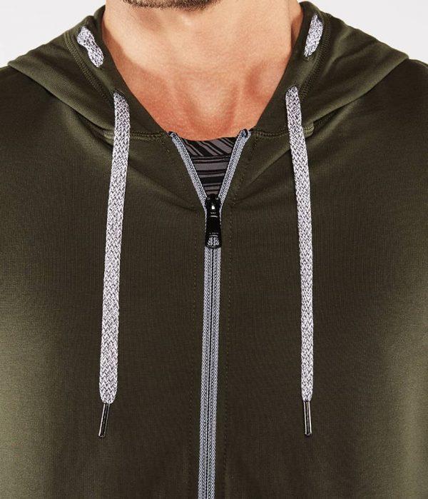 Manduka Yoga-Hoodie INTENTIONAL ZIP HOODIE OLIVINE oliv-grün für Männer 3