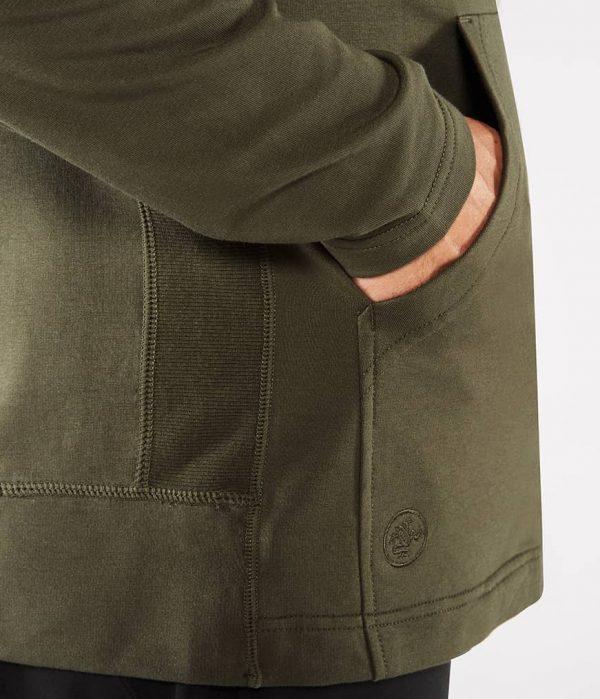 Manduka Yoga-Hoodie INTENTIONAL ZIP HOODIE OLIVINE oliv-grün für Männer 4
