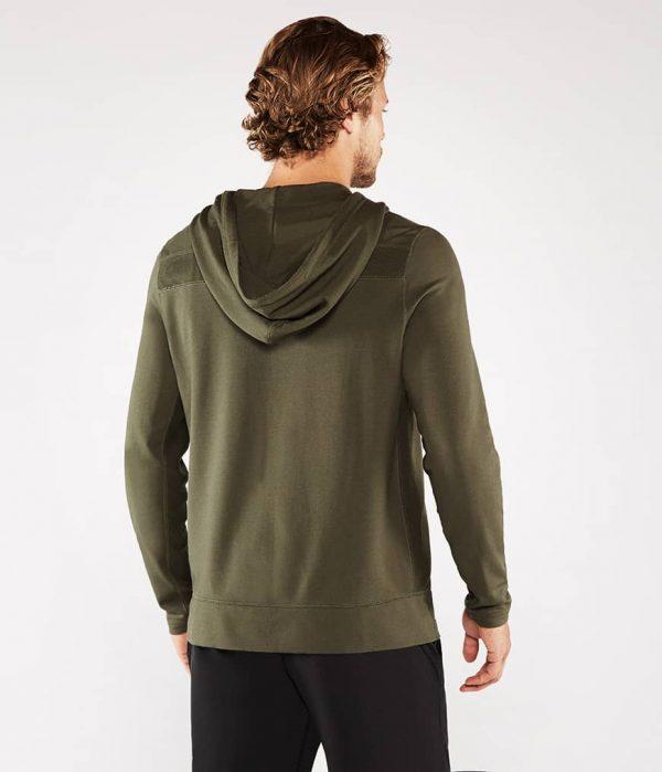Manduka Yoga-Hoodie INTENTIONAL ZIP HOODIE OLIVINE oliv-grün für Männer 6