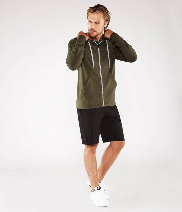 Manduka Yoga-Hoodie INTENTIONAL ZIP HOODIE OLIVINE oliv-grün für Männer 8