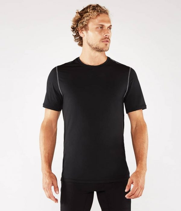 Manduka Yoga-Shirt CROSS TRAIN TEE BLACK schwarz für Männer 1