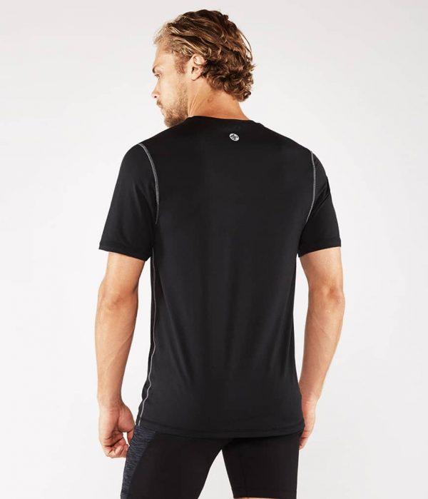 Manduka Yoga-Shirt CROSS TRAIN TEE BLACK schwarz für Männer 5